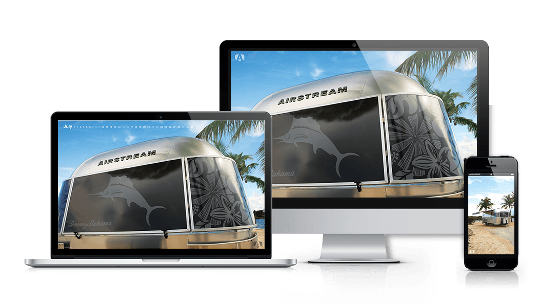 sun kissed screens airstream desktop mobile wallpapers for summer