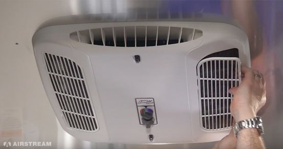 Airstream Basecamp Heating and Cooling System Filter Removal