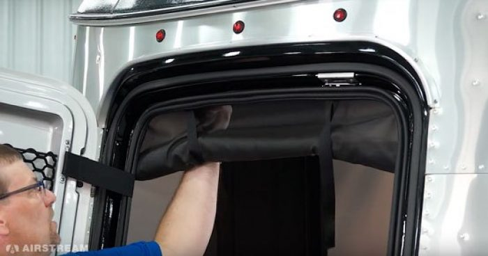 Airstream Basecamp Cargo Door Shade