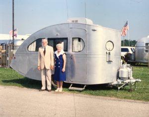 Airstream Torpedo Dr. and Mrs. Holman 1935