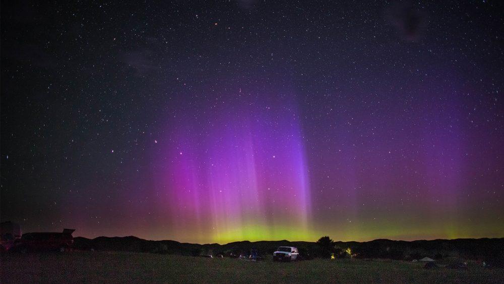 Airstream Party in the Stars Aurora Borealis