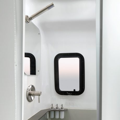 Airstream Travel Trailer Nest Bathroom shower head soap dispensers