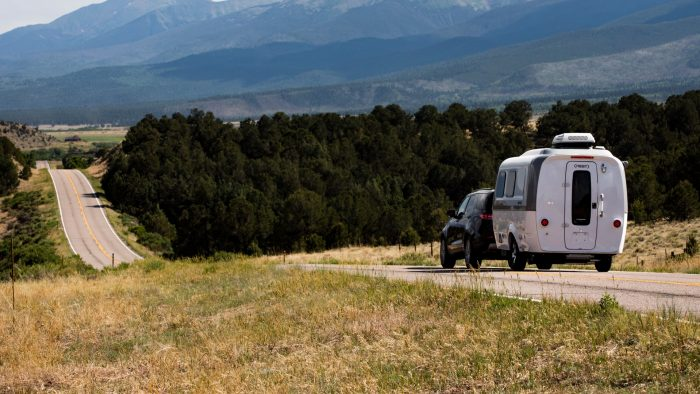 Airstream Travel Trailer towing