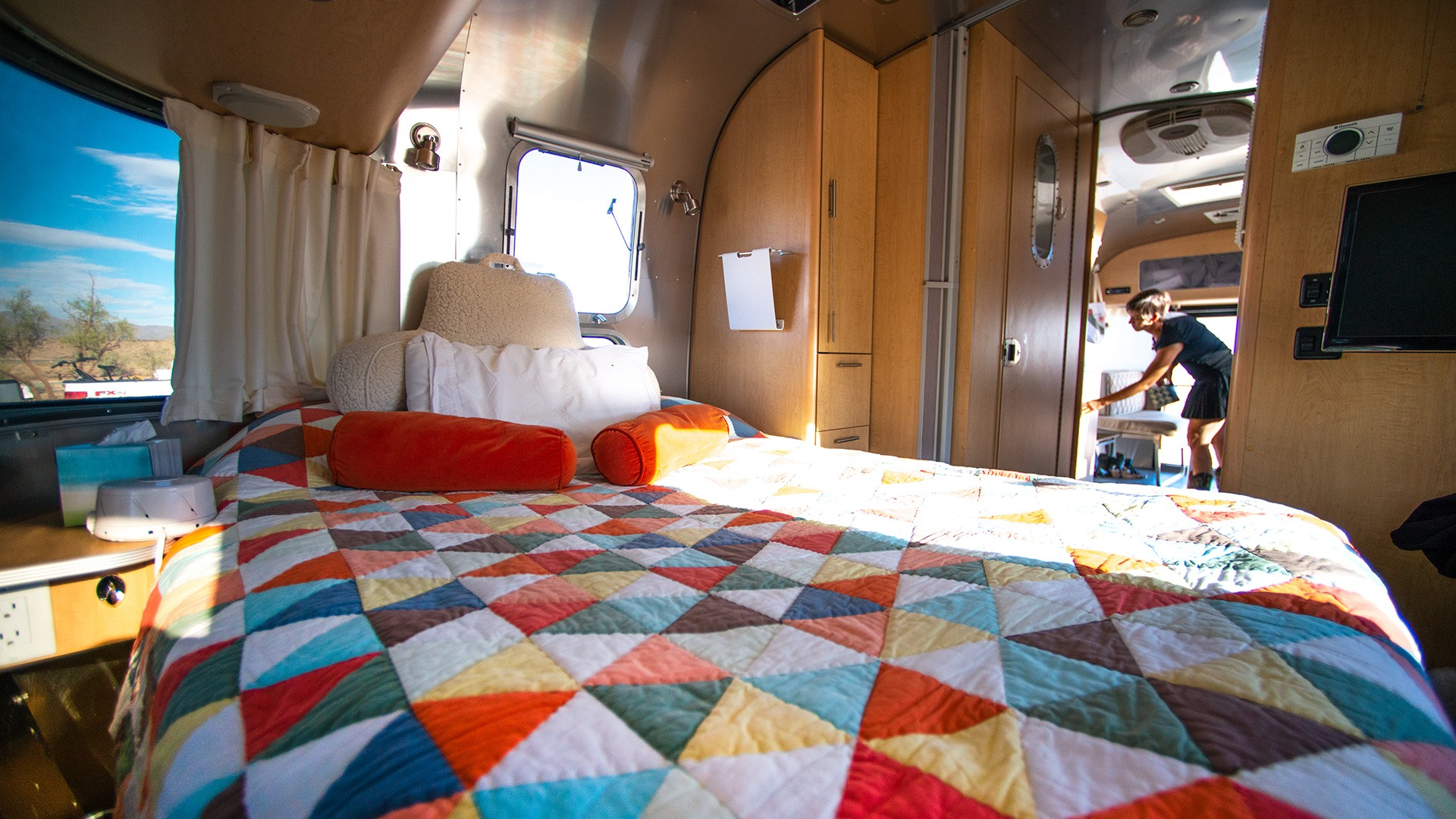 Airstream Travel Trailer Interior Bed Living the Airstream Dream