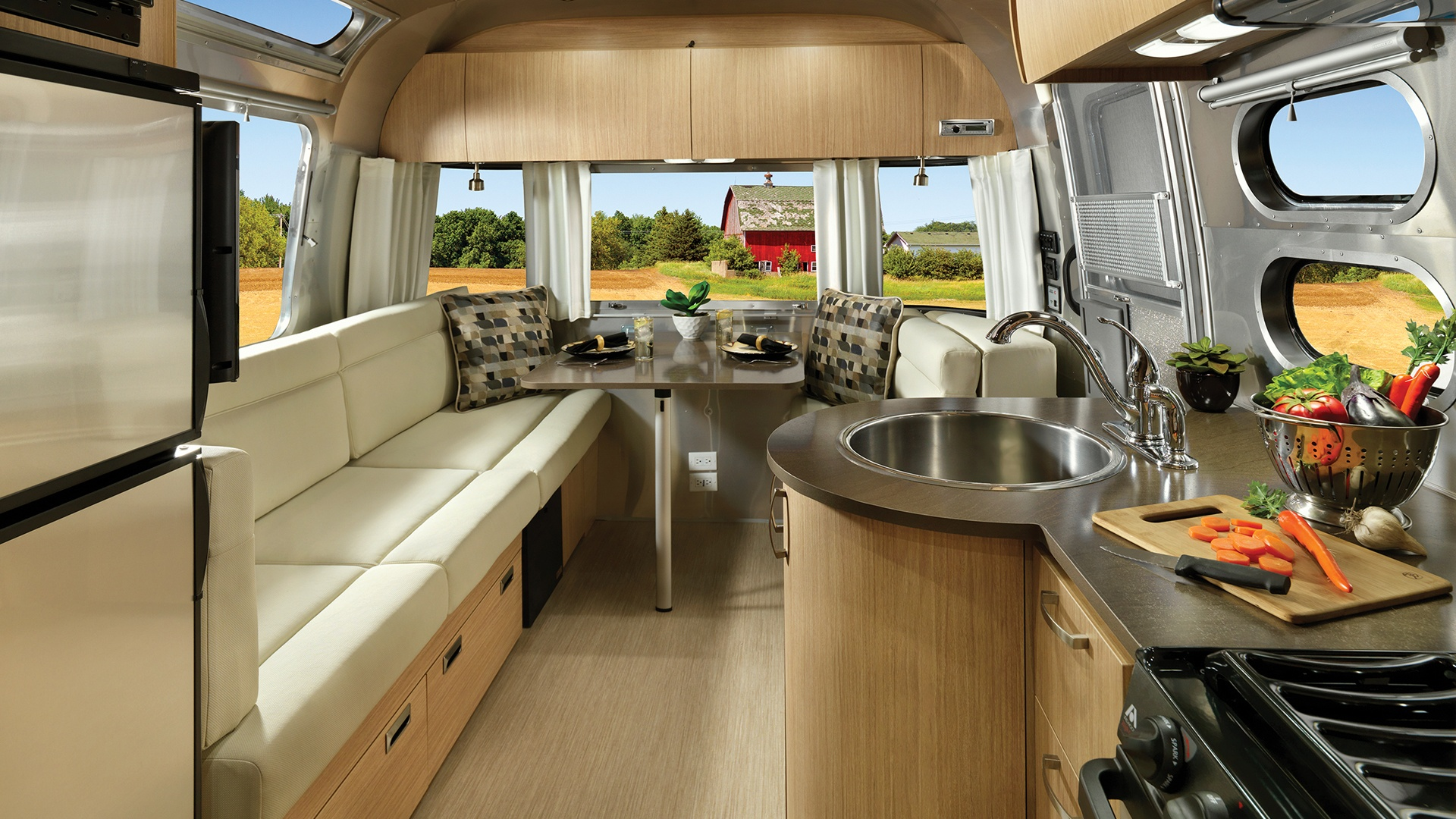 airstream cloud flying interior travel trailers load sub