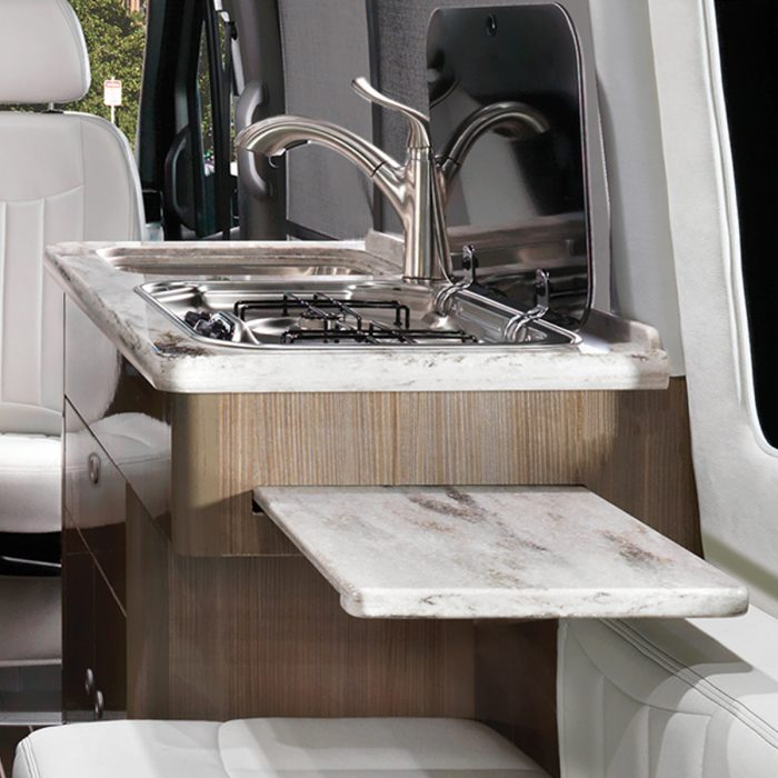 Airstream Interstate Nineteen Mercedes Benz galley sink kitchen