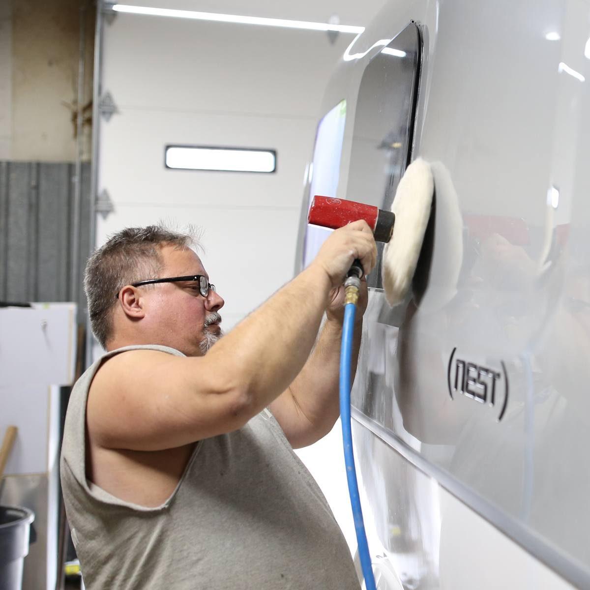 Nest by Airstream fiberglass shell quality