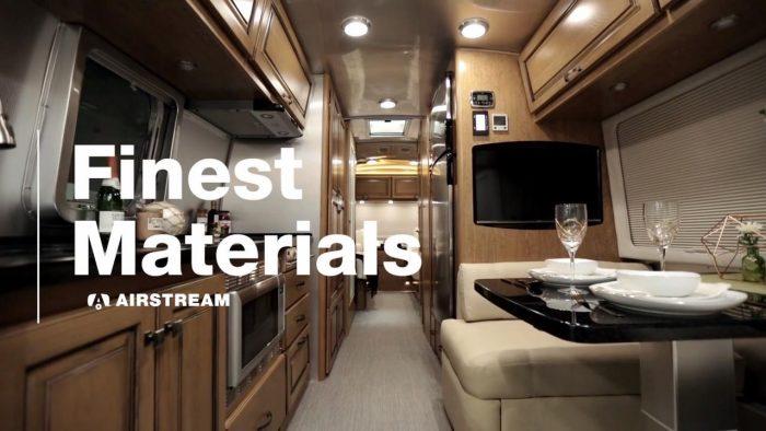 Airstream Travel Trailer interior classic finest materials quality production