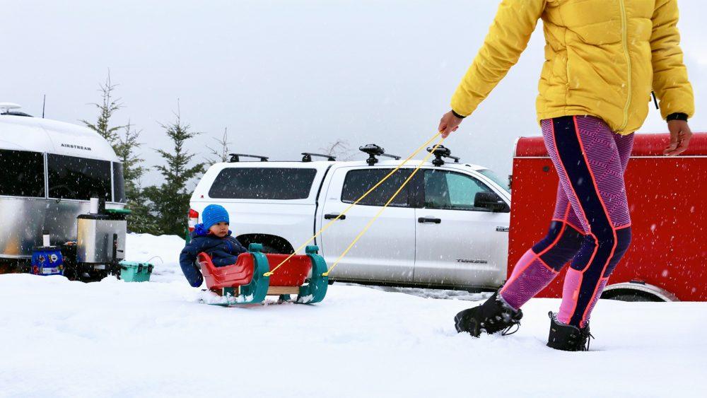 Airstream Winter Snow Sled Child Truck Travel Trailer Sport Bambi