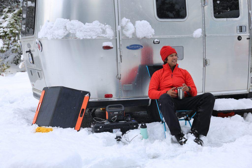 Airstream Winter Bambi Sport Travel Trailer