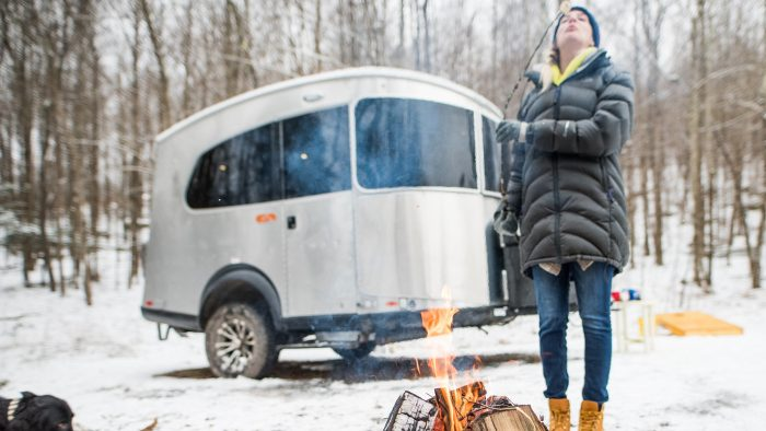 Airstream Basecamp X Winter Snow