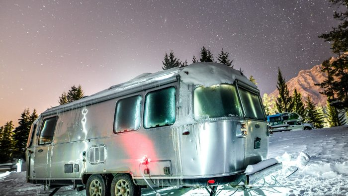 Airstream Travel Trailer Winter Milky Way